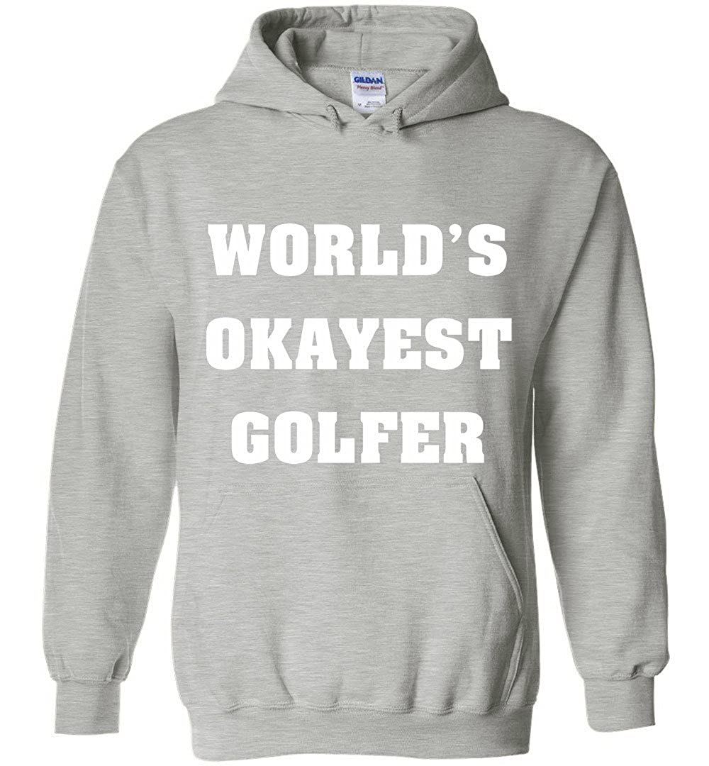 TSHIRTAMAZING Worlds Okayest Golfer Hoodies Adult and Youth Size