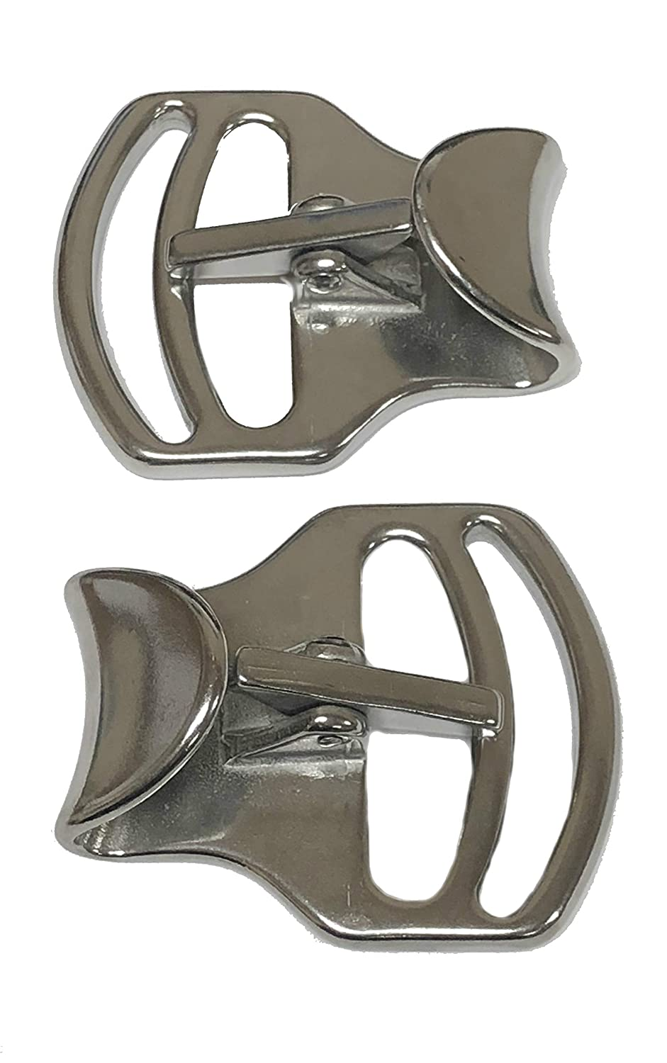 2 Pack of Two Inch Tackaberry Buckles, Heavy Duty Solid Stainless Steel, 2', Won't Rust, Makes Cinching A Breeze