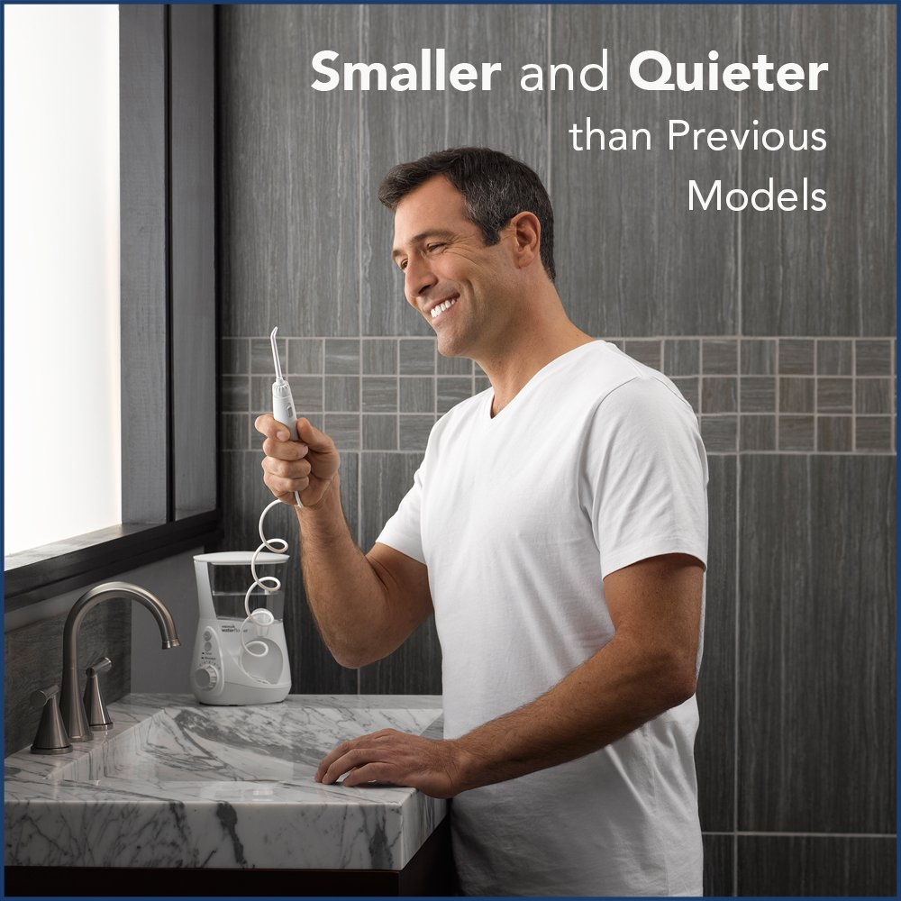Waterpik Water Flosser Electric Dental Countertop Oral Irrigator For Teeth – Aquarius Professional, WP-660 White by Waterpik (Image #2)