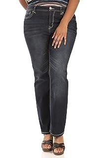 3743ea2f0bd4 WallFlower Women s Juniors Plus Size Basic Legendary Stretch Bootcut Denim  Jeans