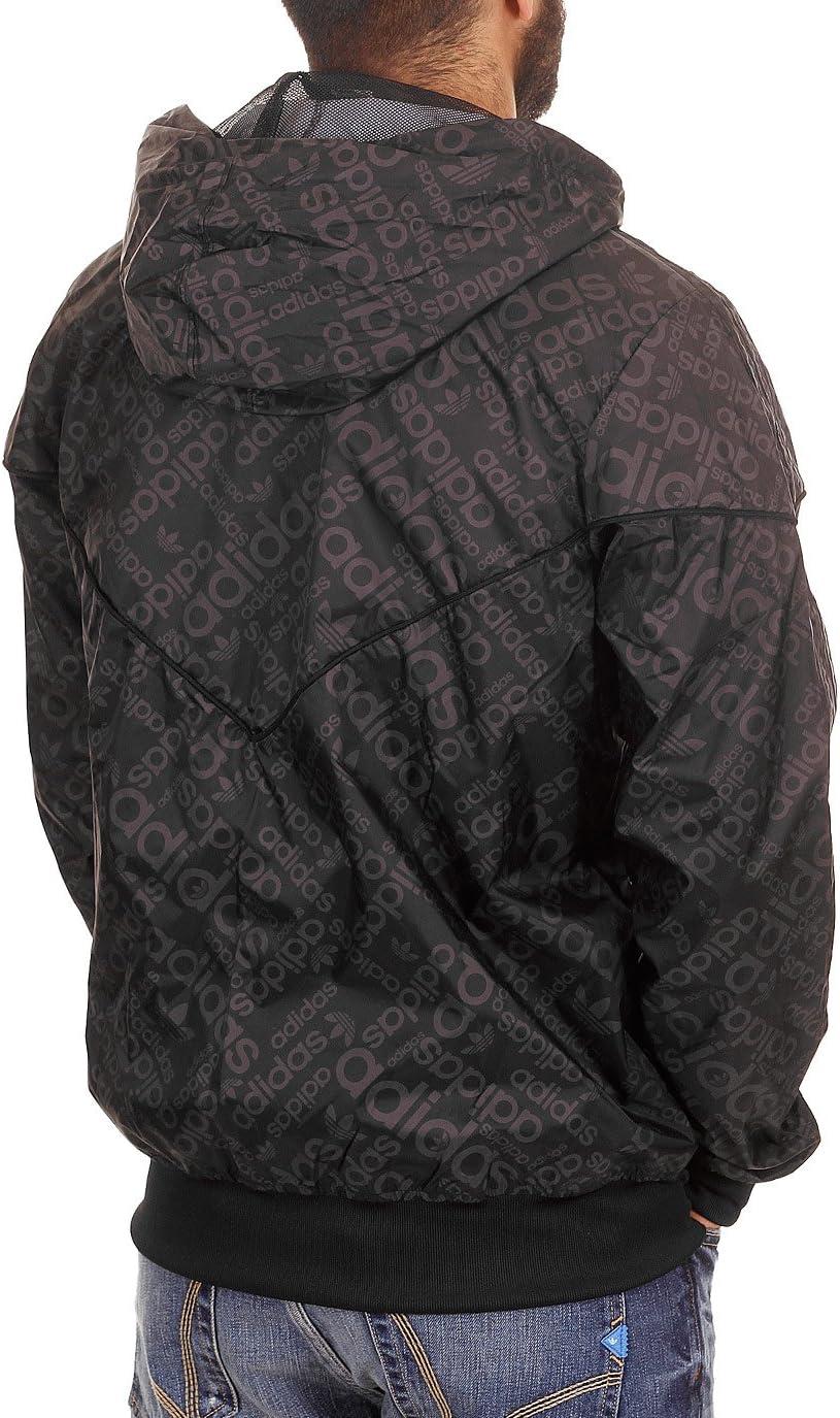 adidas Veste Coupe Vent pour Homme SPO AOP S Noir Noir