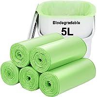 Biodegradable Trash bags 120PCS, Aievrgad 1.2Gallon/5L small Garbage bags/ For Countertop Bin. Bin Liner/Trash/rubbish…