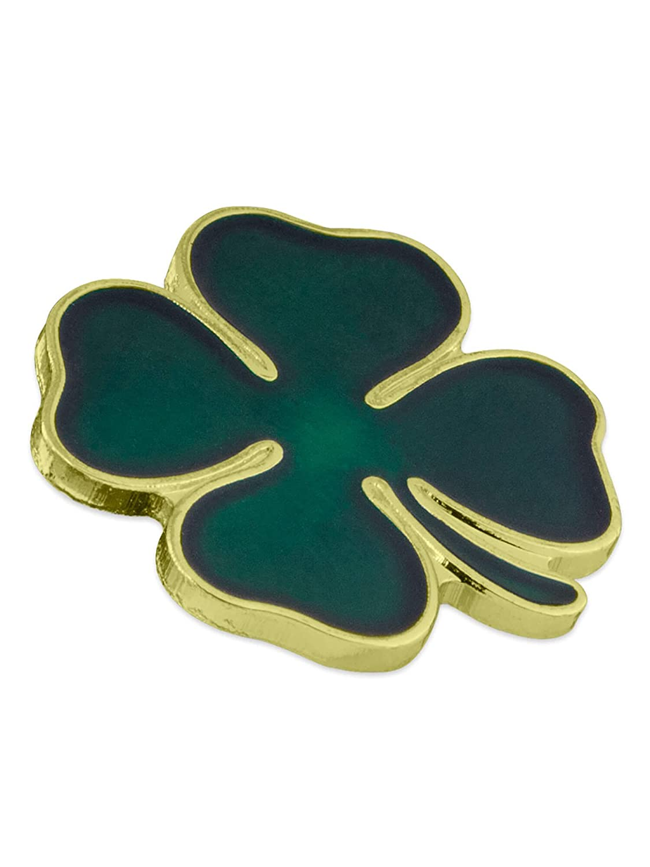 Patricks Day Lapel Pin PinMart Green Four Leaf Clover Shamrock St