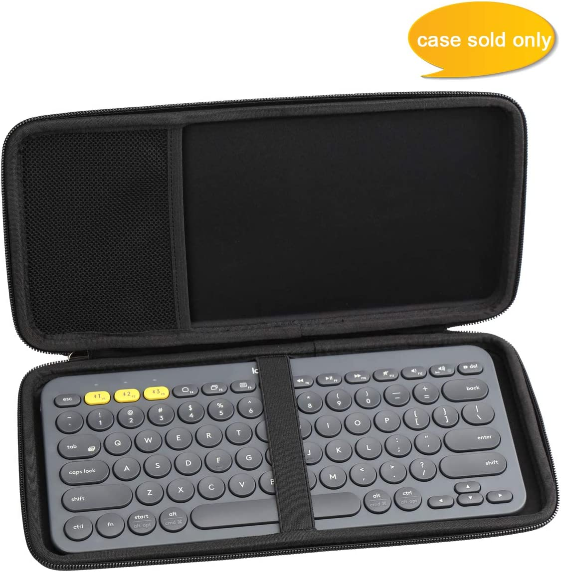Aproca Duro Viajes Funda Bolso Caso para Logitech K380 Teclado Bluetooth
