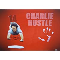 Pete Rose Hand Print Unstretched Canvas - Head First Slide Signed JSA Authentic - Autographed MLB Art photo