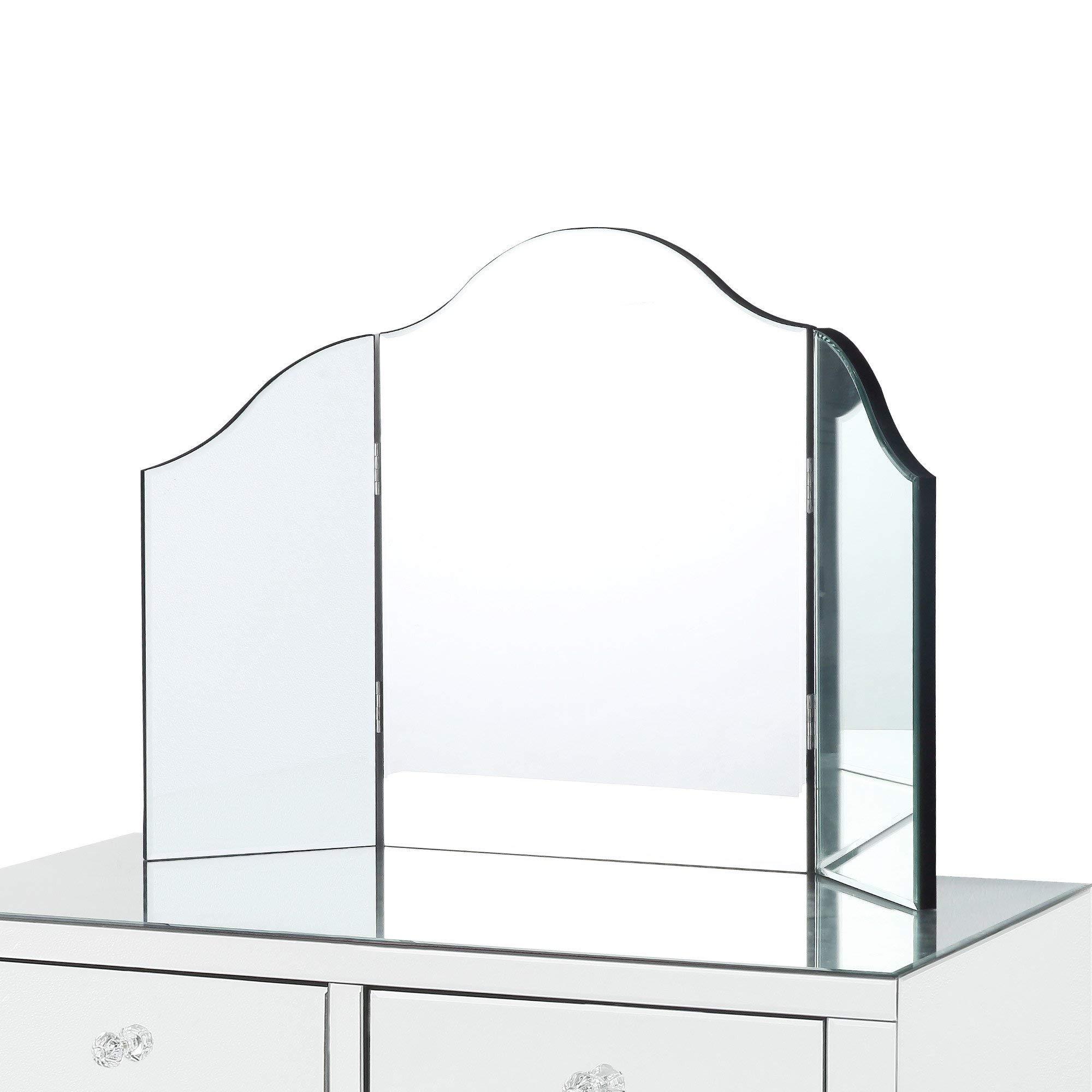 Inspired Home Giselle Tri-fold Tabletop Vanity Mirror, by Inspired Home