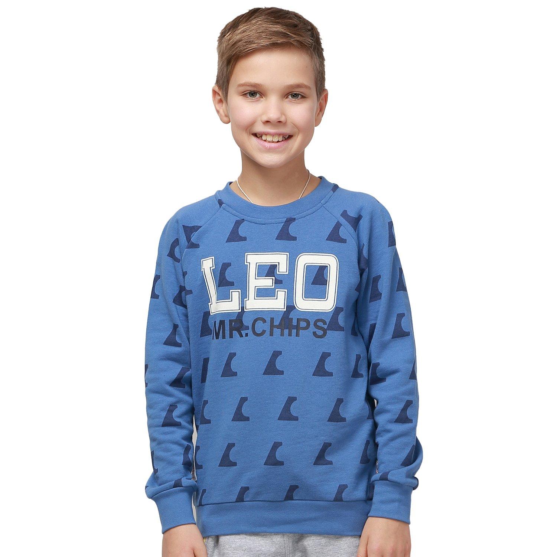 Leo&Lily Big boys'Fleece Tracksuit Hoodie W Husky Joggers Set (10, Blue)