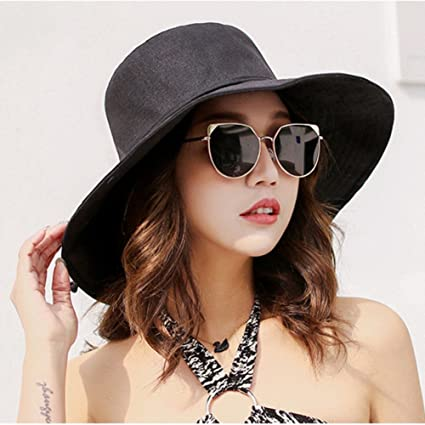 eae9b9710f4 Qchomee Ladies Foldable Shapeable Brim Sun Hat UPF 50+ Bucket Cap Wide Brim  Beach Sunhat