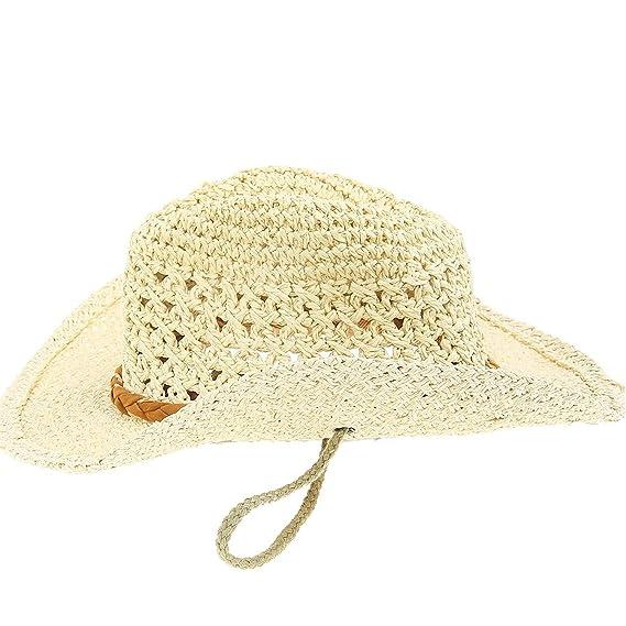 JTC Chapeau Cowboy Femme Homme Caddice Soleil Voyage Plage (beige)   Amazon.fr  Vêtements et accessoires 2eeedbef661