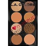 L.A. Colors L.a. Colors I Heart Makeup Contour Palette, Medium To Dark, 0.07 lb