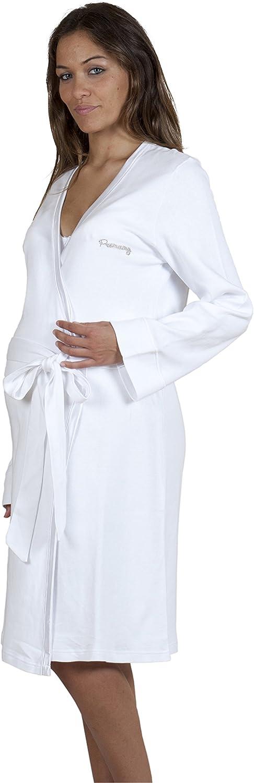 Premamy - Bata para Maternidad, Modelo de Frente Abierto, algodón cálido, Ideal para el Invierno, pre-Post-Parto: Amazon.es: Ropa y accesorios