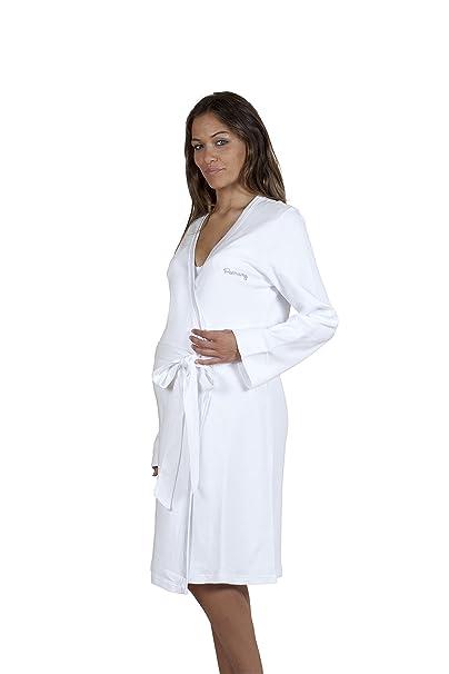 Premamy - Bata para Maternidad, Modelo de Frente Abierto, algodón cálido, Ideal para