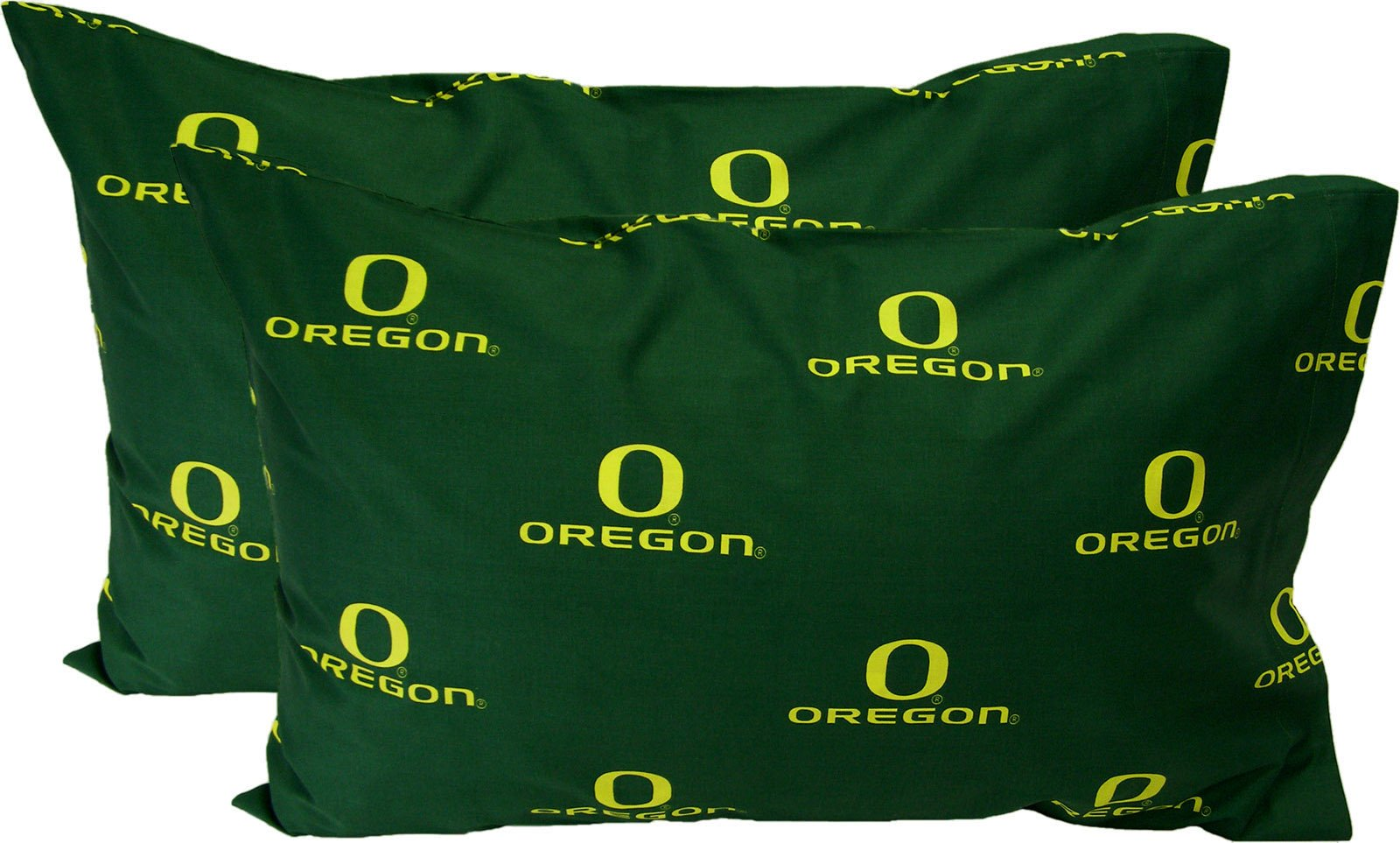 College Covers Oregon Ducks Pair of Solid Pillowcase, King