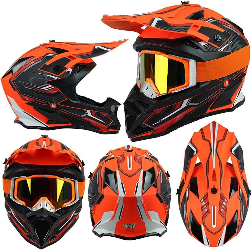 Certifi/é Dot FENGCHENG Casque Enduro VTT Homme Femme Pro Casque BMX Integral Adulte Casque Motocross Casque Moto Cross pour Velo Quad ATV Scooter avec Doublure Amovible