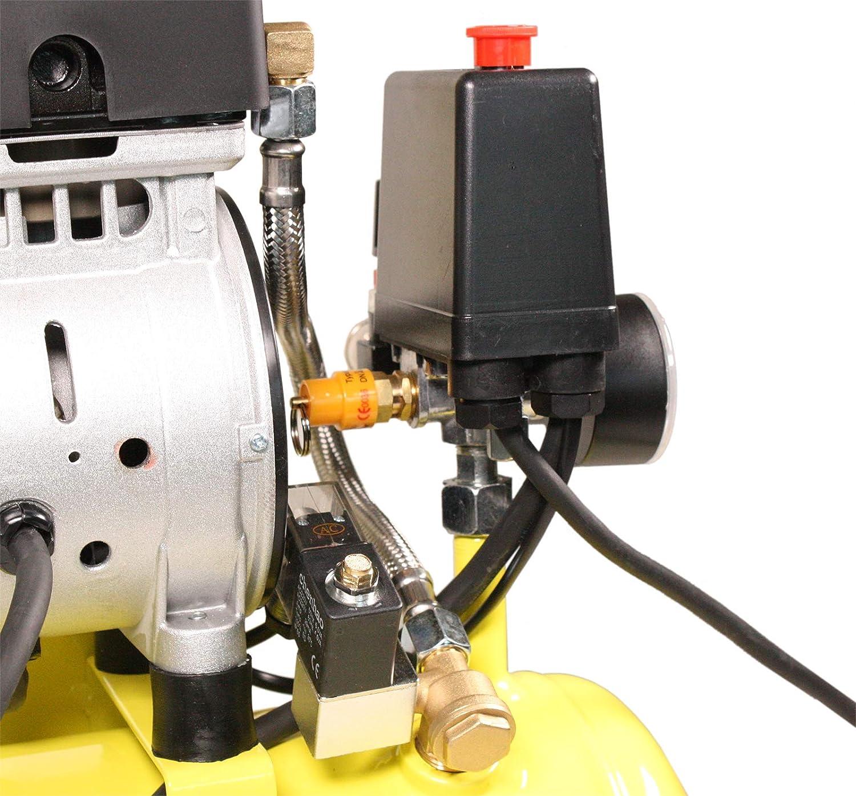Aktionsset WELDINGER Fl/üsterkompressor FK 120 pro mit Druckluftset und Klammerger/ät