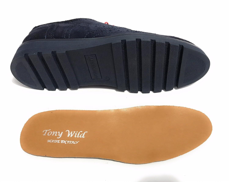 TONY WILD Blau , Herren Schnürhalbschuhe Blau WILD blau fb4e79