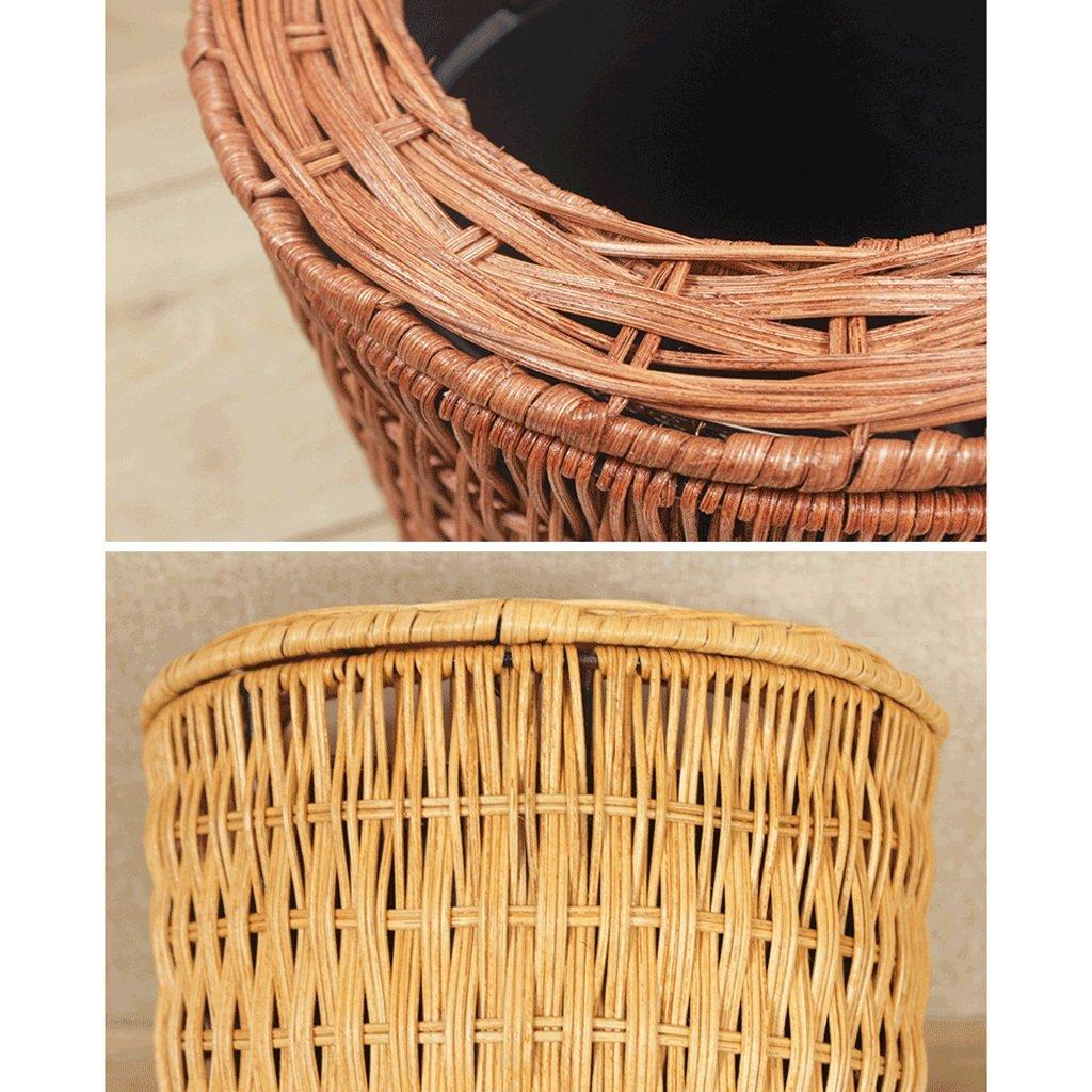 LXY Cesta De Papel De Bambú Bambú De Hecha A Mano Verde Cilíndrica Creativa Simple Basura De Dormitorio De La Sala De Estar China Papelera (Color : Amarillo, Tamaño : 3L) 77ada7