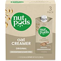 nutpods Oat Original, (3-Pack), Unsweetened Dairy-Free Creamer, Nut-Free Creamer, Made from Oats, Gluten Free, Non-GMO…