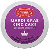 Community Coffee Mardi Gras King Cake Flavored 18 Count Coffee Pods, Medium Roast, Compatible with Keurig 2.0 K-Cup Brewers,