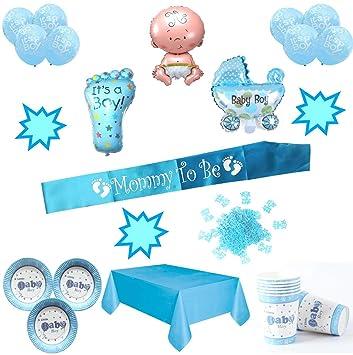 Layal Design Baby Shower Deko Set - Für eine Junge Babyparty (20 ...