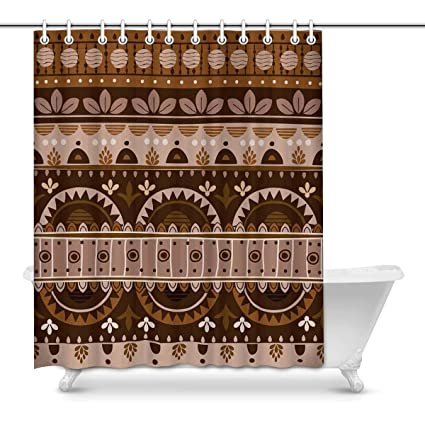 Image Unavailable Not Available For Color INTERESTPRINT African Art Tribal Print Bathroom Decor Shower Curtain