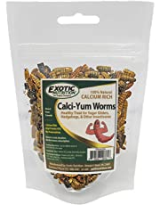 Exotic Nutrition Bulk Dried Calci-Yum Worms - Black Soldier Fly Larvae - Insect for Chickens, Bluebirds, Wild Birds - BSFL (2.8 oz.)