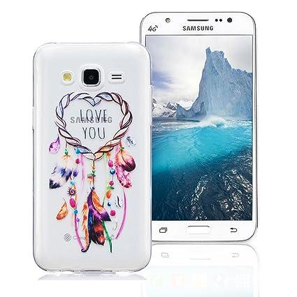Funda Samsung Galaxy J5 2015 SM-J500F, AllDo Funda TPU Silicona para Samsung Galaxy J5 2015 SM-J500F Funda Transparente Claro Carcasa Flexible Suave ...