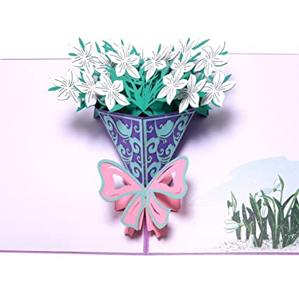 Paper Spiritz Gardenias 3D Pop Up Cards Happy Birthday Handmade Thank You For Girls