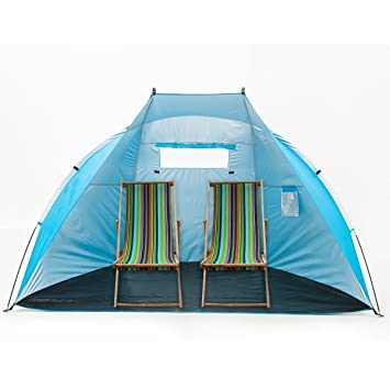 iCorer Extra Large Outdoor Portable EasyUp Beach Cabana Tent Sun Shelter Sunshade Blue  sc 1 st  Amazon.com & Amazon.com: iCorer Extra Large Outdoor Portable EasyUp Beach ...