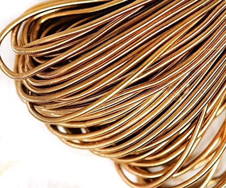 Embroiderymaterial Stiff Wire//Gijai Gimp Wire for Embroidery /& Jewellery Making 100gm Silver Color, 1MM