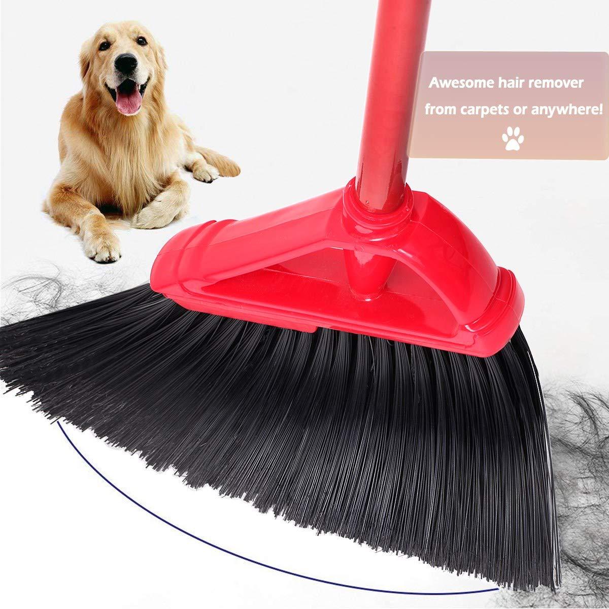 Angle Broom Dustpan Set Rubber Lip Detachable Hand Broom Indoor Outdoor Floor Sweeper Lobby Kitchen Patio Garden Garage Shop Hair Salon by Iamagie (Image #4)