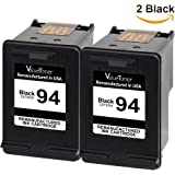 Valuetoner Remanufactured Ink Cartridge Replacement For Hewlett Packard HP 94 C9350FN C8765WN (2 Black) 2 Pack