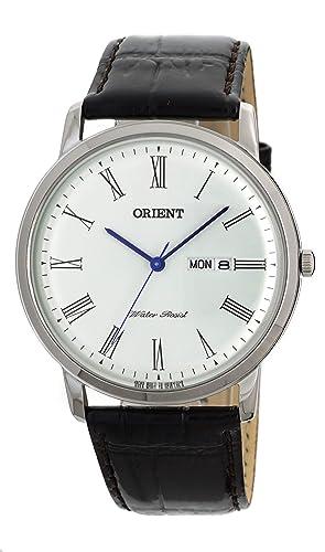 "Orient ""Capital 2"" Classic diseño delgado cuarzo romano Dial vestido reloj ..."