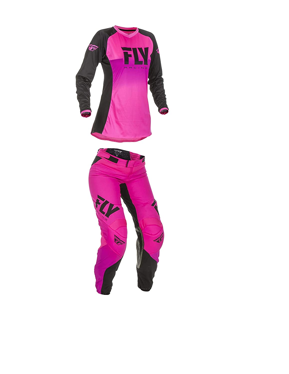 0//2 Pants//Small Jersey Fly Racing Lite Womens Motocross Race Pant//Jersey Package Neon Pink//Black