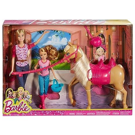 91e25471a4 Barbie cct25 - Camping di Divertimento Bambola e Cavallo: Amazon.it ...