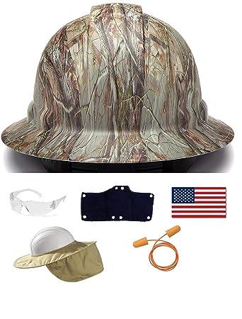 Pyramex Safety Full Brim Hard Hat Adjustable Ratchet 4 Pt Suspension  Graphite Pattern Camo Matte + 3f7110e93aca