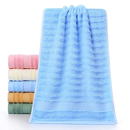 Mush Ultra Soft, Absorbent and Anti Microbial 600 GSM Bamboo Bath Towel (Sky Blue)