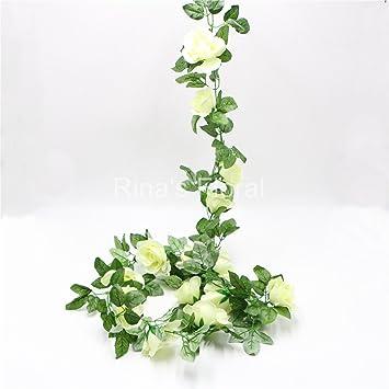 Amazon Flower Garland 86 Artificial Silk Rose Garland 2