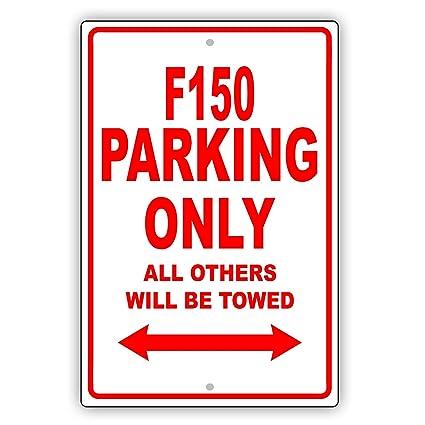 Placa de aluminio para cartel de garaje con texto en inglés ...