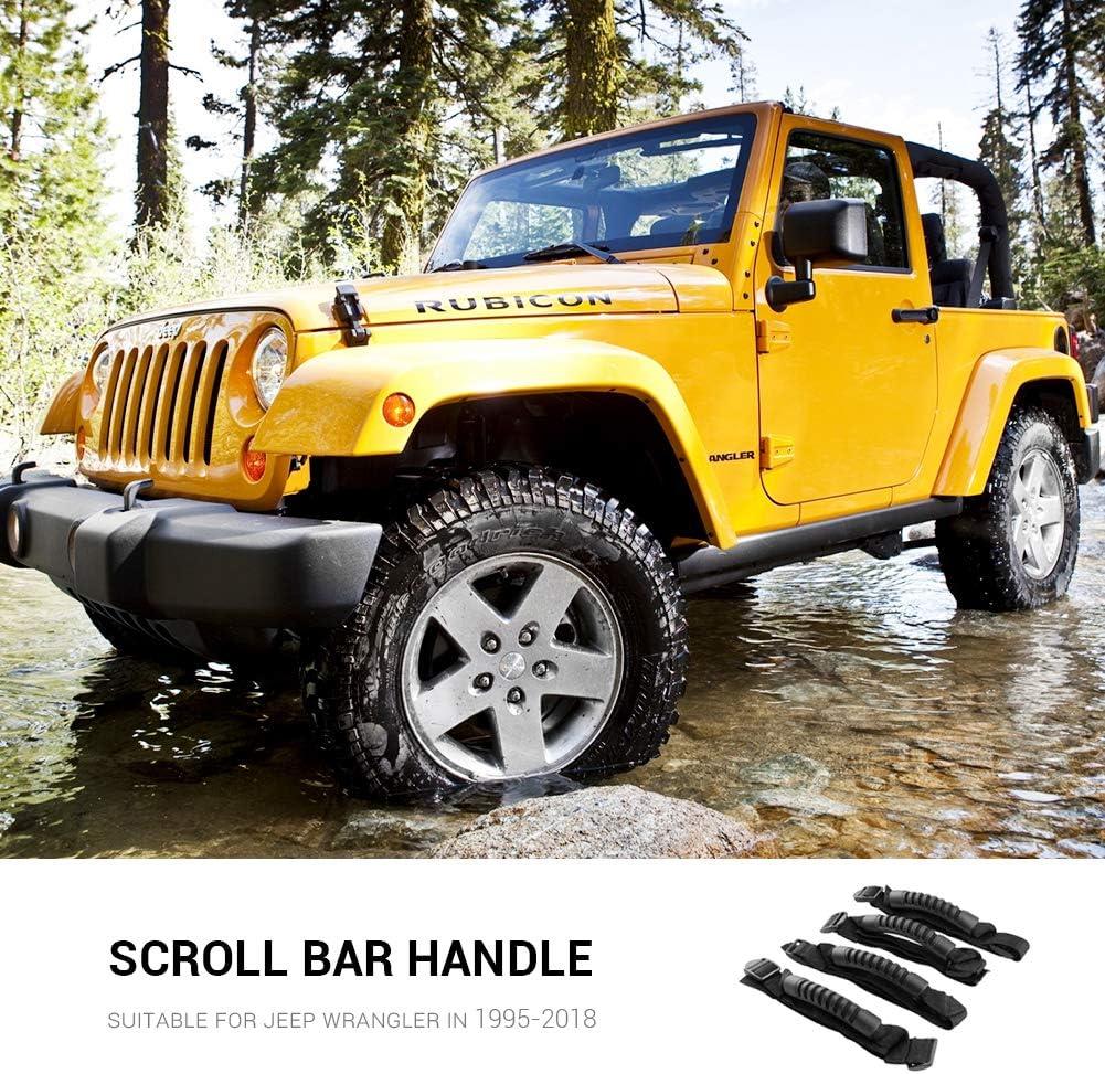 Surenhap Wrangler Grip Jeep Accessorio per maniglione per Jeep Wrangler YJ TJ JK Sahara Freedom X Illimitato 1995-2018