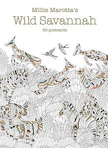 Millie Marotta's Wild Savannah (Postcard Box): 50 Postcards (A Millie Marotta Adult Coloring Book)