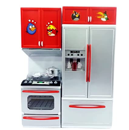 Buy Toyshine Modern Kitchen Set 2 Red Color Music And Lights