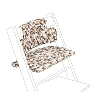 Stokke Tripp Trapp Classic Cushion, Honeycomb Calm - Pair with Tripp Trapp Chair & High Chair for Support and Comfort - Machine Washable - Fits All Tripp Trapp Chairs
