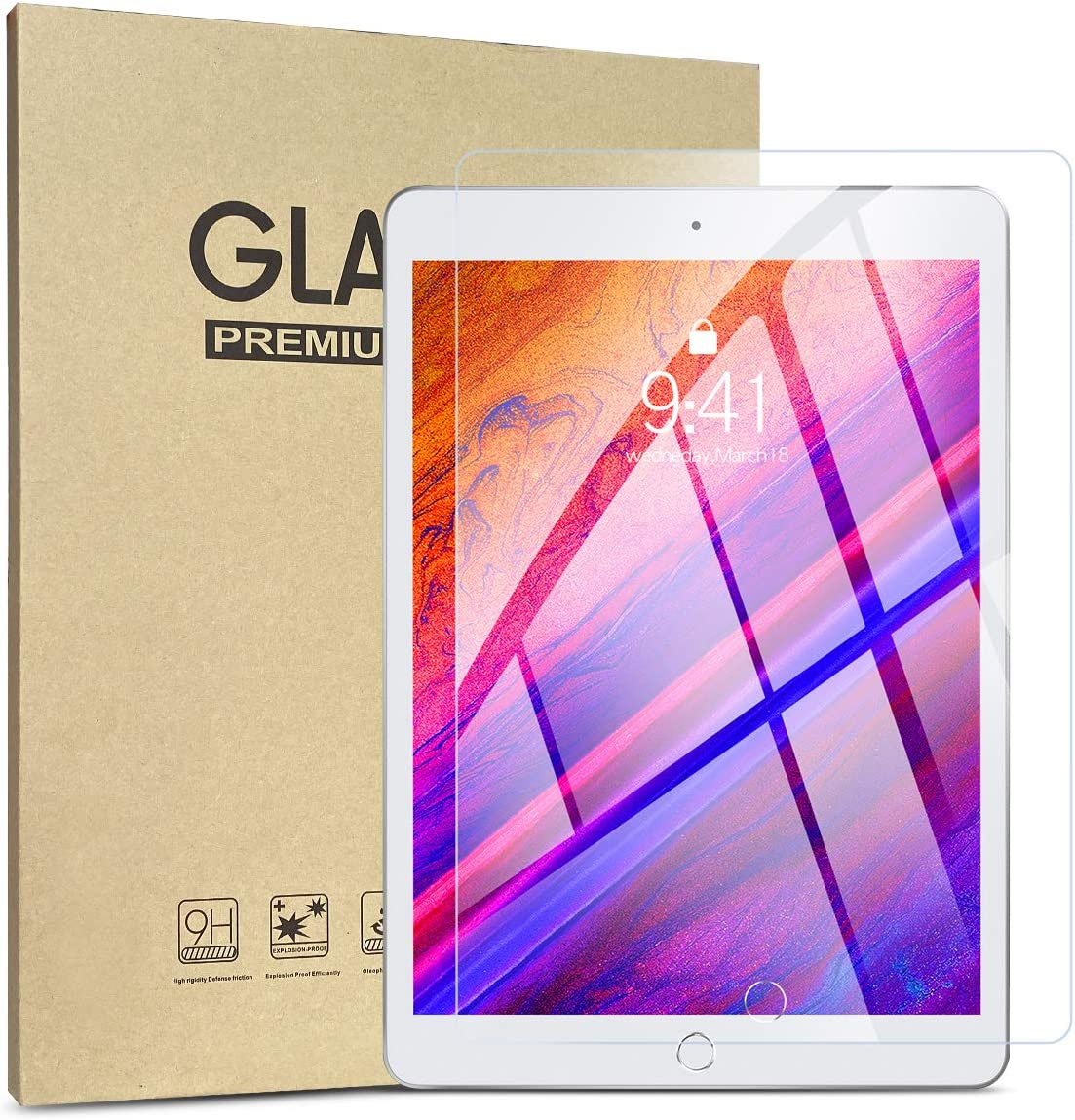 iPad 10.2 Screen Protector,Screen Protector for iPad 7th Generation (iPad 2019), Compatible with 10.2 Inch Retina Display/Apple Pencil(2 PCS)