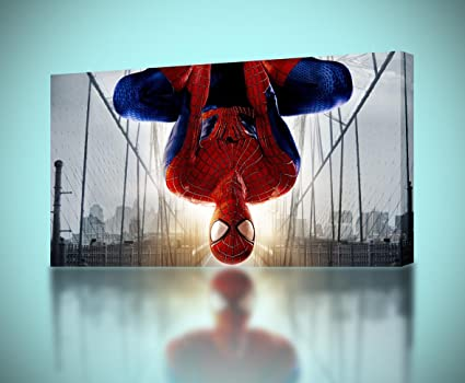 Amazon.com: Spiderman CANVAS PRINT Home Wall Decor Giclee Art Poster ...