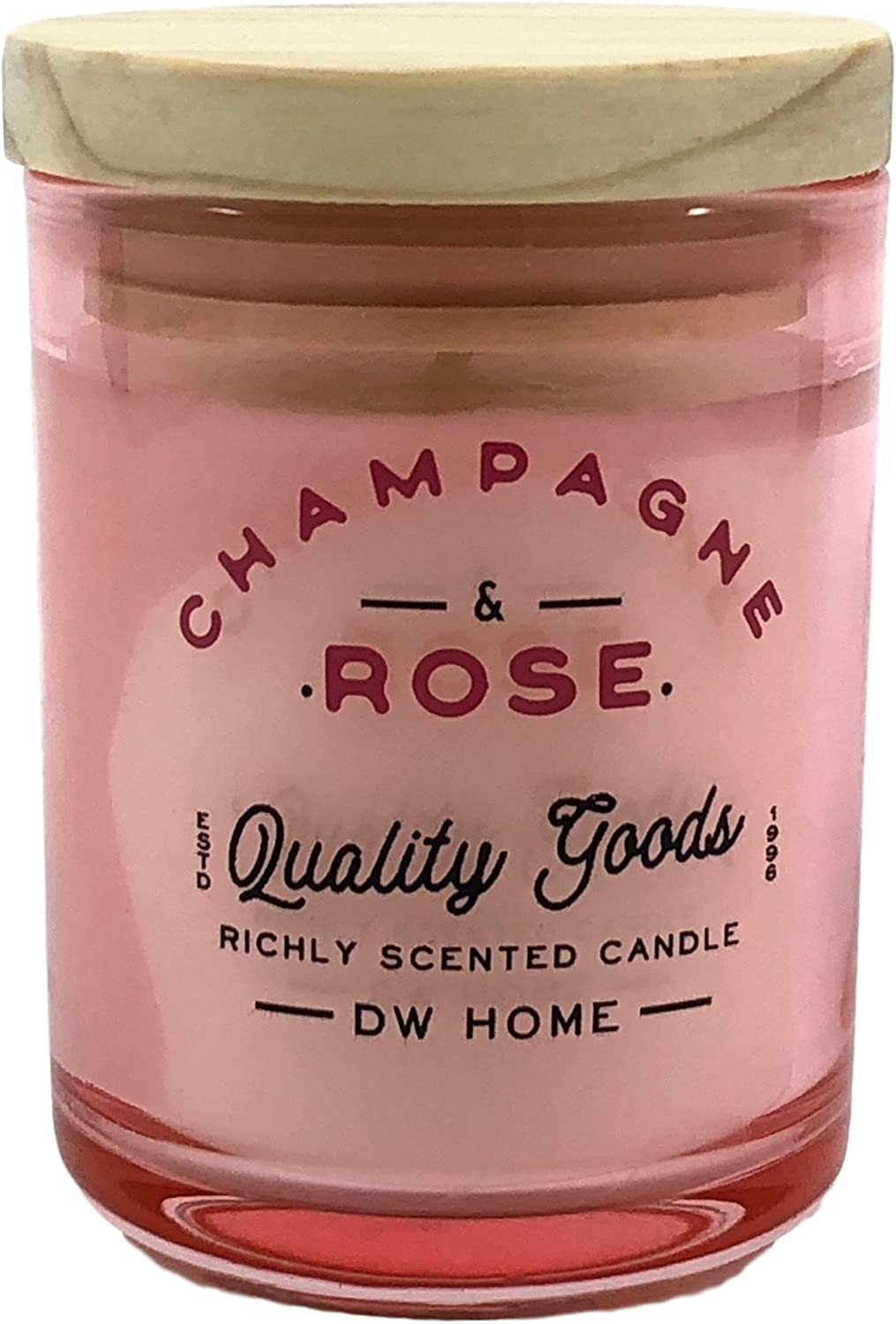 DW Home Small Champagne and Rose Scented Candle