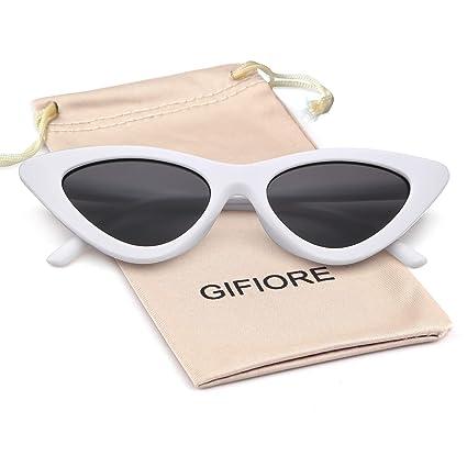 e8987e92d30d8 Clout Goggles Vintage Cat Eye Sunglasses Mod Style Retro Kurt Cobain  Sunglasses (White Frame Grey Lens)  Amazon.ca  Luggage   Bags