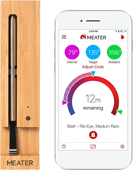 New MEATER+165ft Long Range Smart Wireless Meat Thermometer for The Oven Gril...