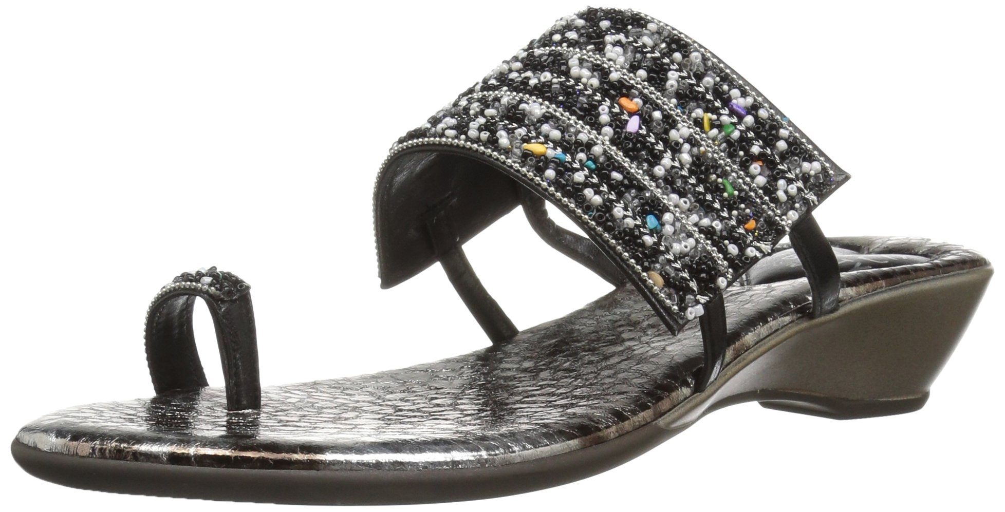 Love & Liberty Women's Sammy-Ll Toe Ring Sandal, Black, 7 M US by Love & Liberty (Image #1)