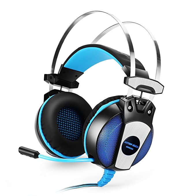 Amazon.com: GranVela GS500 Cable PC Gaming Auriculares sobre ...